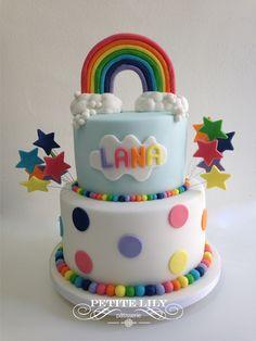 Rainbow cake/ Bolo arco-íris