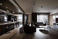 The Wang's House Apartment In Taiwan Upon The Project Of The PM Design Studio