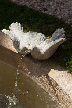 Beautiful and fairy stone fountains Stone Fountains, Garden Fountains, Garden Statues, Garden Sculpture, Water Fountains, Diy Garden, Dream Garden, Garden Art, Garden Design