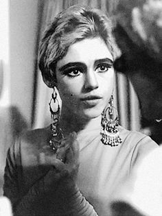 """Edith Minturn 'Edie' Sedgwick (April 20, 1943 – November 16, 1971) was an American heiress, socialite, actress, and fashion model. She is best known for being one of Andy Warhol's superstars. Sedgwick became known as 'The Girl of the Year' in 1965 after starring in several of Warhol's short films in the 1960s. She was dubbed an 'It Girl', while Vogue magazine also named her a 'Youthquaker'."" Edie shown here in a Rudi Gernreich gown c. 1965. #EdieSedgwick #AndyWarhol"