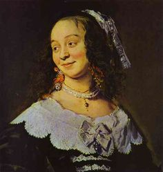 Frans Hals. Isabella Coymans. Detail. c. 1650-2. Oil on canvas. Private collection.