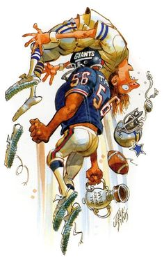 Art by Jack Davis. Giant Football