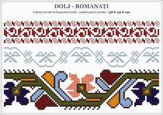Semne Cusute: traditional Romanian motifs - OLTENIA: Dolj-Romanati Loom Patterns, Beading Patterns, Embroidery Patterns, Knitting Patterns, Creative Embroidery, Cross Stitch Borders, Pattern Fashion, Cross Stitch Embroidery, Pixel Art