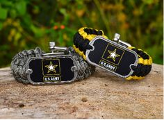 This is the officially licensed Regular Survival Bracelet of the U.S. Army™! Perfect for showing your support for our troops! Made from super strong military spec paracord and an authentic military dog tag. $31.95