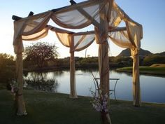 A tradition in Jewish weddings, the chuppah symbolizes the home the couple will build together.