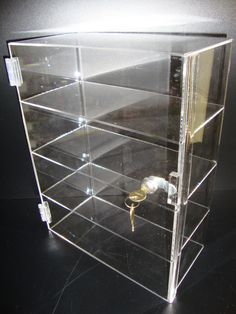 "Amazon.com - Acrylic Lucite Showcase Jewelry Pastry Bakery Counter Display W/door & Lock (12"" x 6"" x 19""H) - Standing Shelf Units"