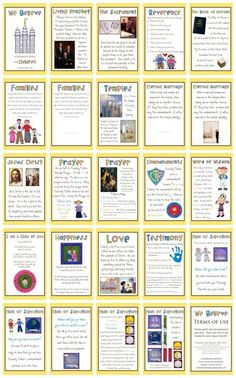 LDS Quiet Book - We Believe, free download by erika