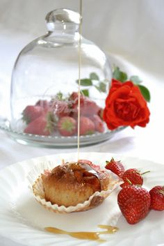 Strawberry and maple syrup muffins -- Taste the full flavor of this New England Tradition. - www.vermontmaid.com #maplesyrup #recipe #breakfast