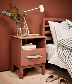 "DOMINO:14 Beautifully Styled Finds from IKEA! TARVA Nightstand, pine, 18 7/8x24 3/8 "" $39.99"