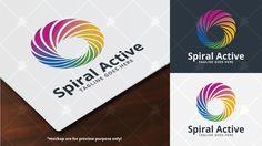 Spiral Active Logo Template