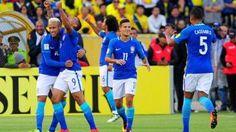 Brasil dio el golpe y goleó 3-0 a Ecuador en Quito.