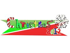 """[Christmas 2012 Logo] A bit of a """"flashback"""" to a hand drawn design I worked up for the Christmas before last. I still really enjoyed this free spirited childish design and it still delights, even 2 years later."""