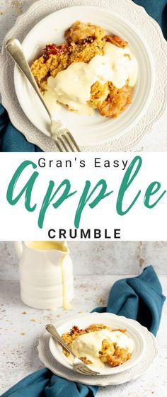 Perfectly flavoured cinnamon apple filling topped with mountains of crispy crumble, my Gran's easy apple pie recipe is comforting, delicious and seriously simple to make! Click for the full step by step picture recipe, video tutorial, helpful tips and more...