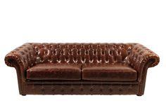 Sofá de Couro Chesterfield