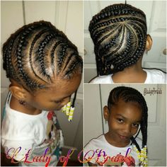 Little girls braids hairstyle Protective style cornrows children