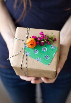 kraft y flores, como me gusta. #wrap