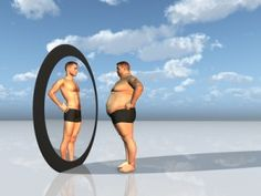 Body Mass Index (BMI) along with weight get lots of media coverage.  But what if we are once again focusing on the incorrect metric?  I believe the issue is body fat percentage (BF%).  BF% explains why two people can weigh exactly the same--but one looks amazing and the other looks and is fat.   This article helps explain the issue.      Man sees other self in mirror