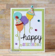 Handmade birthday cards - Up, Up, & Away Cutting Plate – Handmade birthday cards Homemade Birthday Cards, Girl Birthday Cards, Bday Cards, Homemade Cards, Cricut Birthday Cards, Birthday Quotes, Children Birthday Cards, Birthday Images, Tarjetas Diy