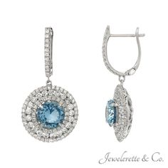 Spoil yourself with a pair of aquamarine earrings that can be found at the jewelry store in Beverly Hills.