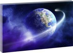 Der blaue Planet - Kunstdruck auf Leinwand - Made in Germany -  Handgefertigt in kleiner Manufaktur 100 cm x 65 cm