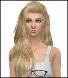 Simista: Raonjena Hair 36 David Sims Conversion Retexture • Sims 4 Downloads