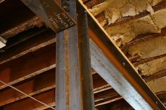 Steel support beams have been added where walls have been removed.