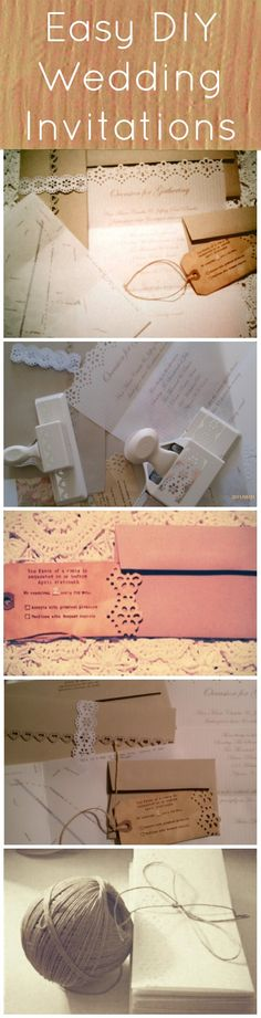 Easy DIY Vintage Style Wedding Invitations