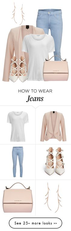 """""""White Tee Shirt and Jeans"""" by lchar on Polyvore featuring Mother, SELECTED, James Perse, Givenchy and Gianvito Rossi"""