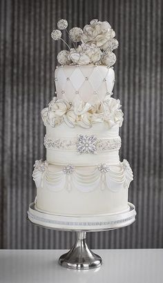 Cake Decorating: Jeweled Wedding Cake by herminia