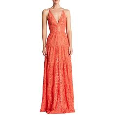 Dress The Population Melina Lace Fit & Flare Maxi Dress (£185) ❤ liked on Polyvore featuring dresses, fit and flare dress, lace maxi dress, red dress, lace fit and flare dress and evening dresses