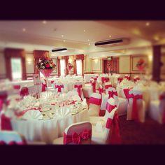 Hot pink wedding decor