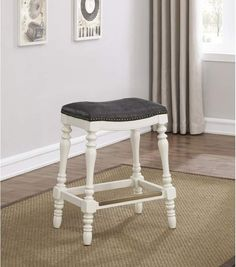 This saddle seat counter stool is the perfect choice for counter height seating where comfort and style combine. The beige fabric look seat features a 3 Counter Height Bar Stools, 24 Bar Stools, Swivel Bar Stools, Kitchen Stools, Bar Counter, Kitchen Dining, Farmhouse Style Bar Stools, Country Farmhouse, French Country