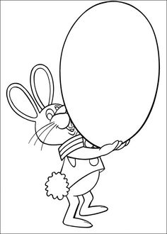 Peter Cottontail Kleurplaten voor kinderen. Kleurplaat en afdrukken tekenen nº 17