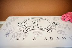 Aisle runner turned into guest book! Coordinator: At Last Wedding + Event Design, Photo: Best Photography