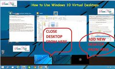 Windows 10 has an awesome feature that Windows 10 Virtual Desktop. This article shows how to Use Windows 10 Virtual Desktops. Advantages of Virtual Desktops in Windows 10.
