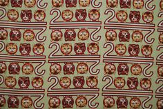 Cat fabric 2000 prints OOP novelty cotton cats by Nancy Crow for Kent Avery by vintageinspiration on Etsy