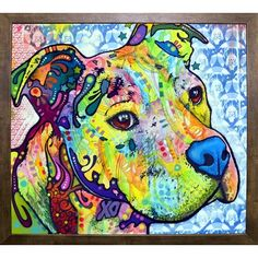 East Urban Home 'Thoughtful Pit Bull This Years Love 2013 Part 2' Graphic Art Print Format: Cafe Mocha Framed