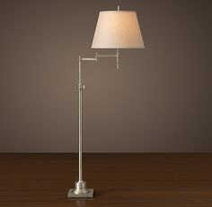 Library Swing-Arm Floor Lamp - Antique Nickel