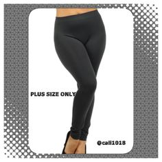 New Black Banded Full Length Leggings 1X/2X/3X Solid plus cotton leggings with a banded waist. Fabric 95%COTTON, 5%SPANDEX Made in CHINA Sizes: 1X, 2X, 3X BLACK ONLY AVAILABLE Glam Squad 2 You Pants Leggings