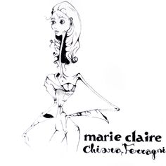 Chiara Ferragni for MarieClaire fashion illustration by tio torosyan