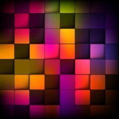 Fondo abstracto con cuadrados de colores