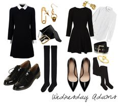 DIY Wednesday Adams Halloween Costume  25 more easy DIY costumes at ColorMeCourtney.com   #halloween #costume