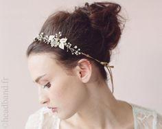 Headband majestueux ruban doré