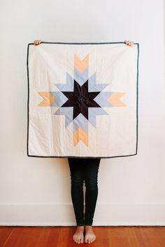 Handmade Star Quilt by korinnevaderhandmade on Etsy
