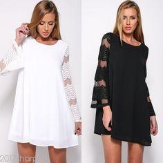 Women Summer O Neck Lace Up A Line Dresses Short Sleeve Trim Evening Party Dress