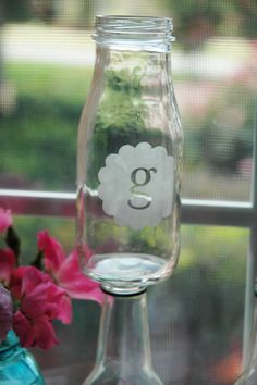 Pen N' Paper Flowers: {tutorial} glass etching