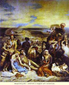 Eugène Delacroix, Massacre at Chios Louvre. Eugène Delacroix, Scene of… William Turner, Delacroix Paintings, Eugène Delacroix, Romanticism Artists, Empire Ottoman, Art Français, Famous Art, Oil Painting Reproductions, Magritte