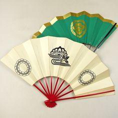 Japanese style fan /【踊り用小物】舞扇/2本セット/赤骨藤文柄と黒骨華文柄