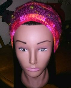 Multi Color - Multi Fiber Crochet Hat by Star Hillman