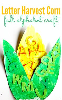 alphabet crafts I'm thinking maybe having lowercase letters on the corn already and theyatch the uppercase.